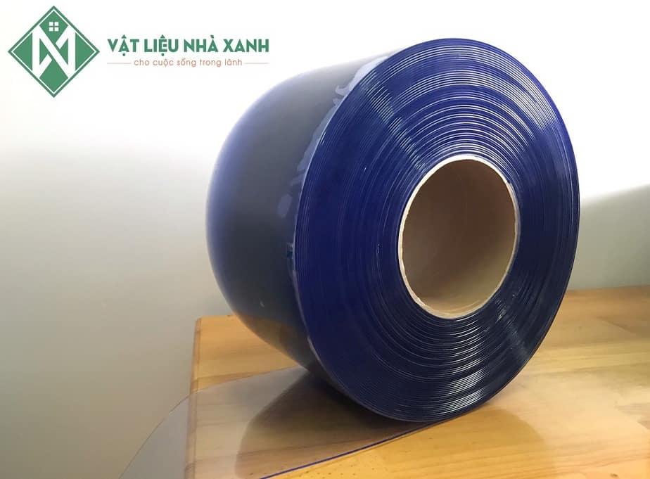 Rèm nhựa ngăn lạnh PVC màu trong xanh
