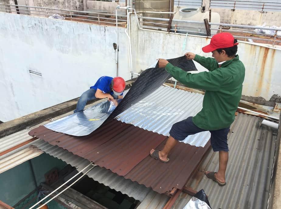 Ứng dụng chống thấm, cách nhiệt cho mái tôn của giấy dầu Hàn Quốc
