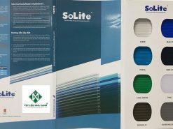 Bảng màu và hướng dẫn lắp đặt tấm poly rỗng Solite
