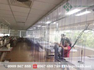 Rèm nhựa ngăn lạnh điều hòa cho công ty may mặc tại Công viên Phần Mềm Quang Trung, P.Tân Chánh Hiệp, Quận 12
