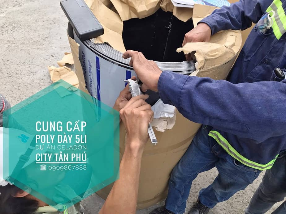 Cung cấp Polycarbonate Đặc Solarflat 5mm màu nâu trà cho dự án Celadon City Quận Tân Phú