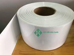 Rèm nhựa PVC màu trắng đục ngăn nhìn xuyên